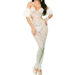 Mint Green Lace Bodystocking
